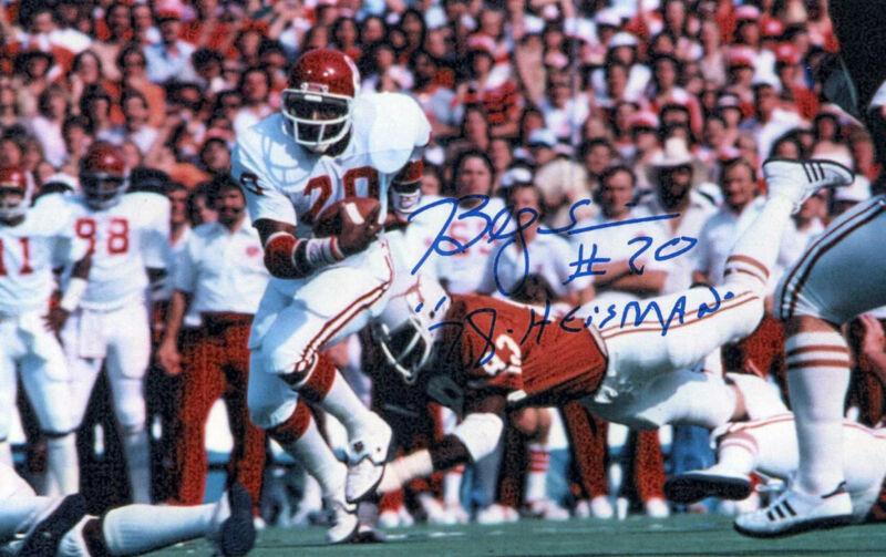 1- Billy Simms Oklahoma Sooners 8x10 Reprint Auto Sports Photo
