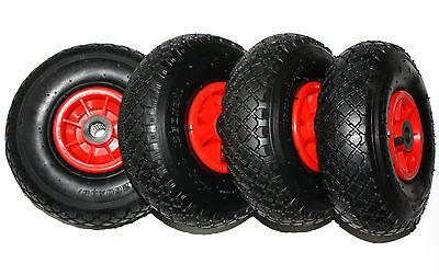 4 Stück Luft Rad 260x85 B-20 mm Sackkarrenrad Sackkarren Bollerwagen 3.00-4