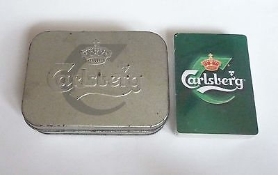 SINGAPORE Playing Cards CARLSBERG BEER  MELODY TIN PACK Sealed MINT Tune