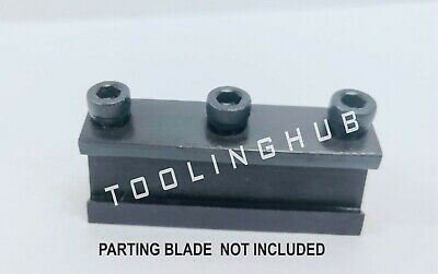Lathe Clamp Type Parting Cut Off Tool Holder 10mm Shank With 12 Blade Capacity