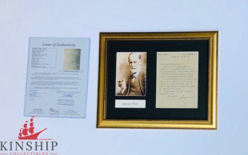 Sigmund Freud signed Typed Letter Framed Display JSA LOA d.1939 Rare Auto Z442