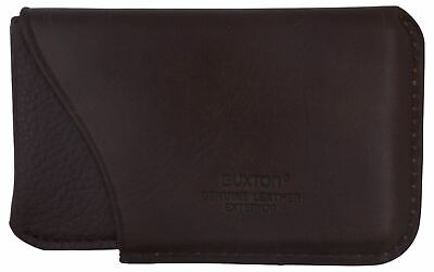 Buxton Genuine Leather Business Card Case Small Brown