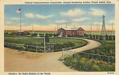 Postcard Fcc Central Monitoring Station Grand Island Ne Federal Communications