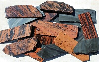 18 Rough Obsidian Practice Slabs • Knapping Knife Arrowhead • 5-7