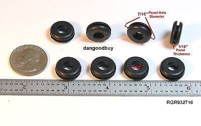 8 Rubber Grommets 932 Inner Diameter - Fits 716 Hole In 116 Thick Panel