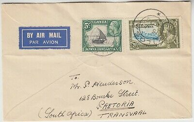 KENYA 1935 air cover *KILOSA-PRETORIA SOUTH AFRICA* regarding stamps exchange