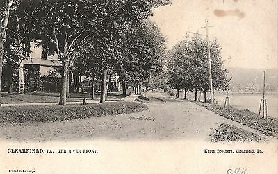 The River Front In Clearfield Pa Pre 1908