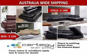 Brand New CU Leather Sofa Set with/without Storage – Black/Red Salisbury Brisbane South West Preview