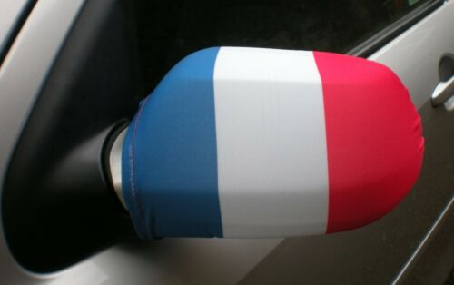 CAR WING MIRROR SOCKS FLAGS, COVERS, FLAG-UPS! - FRANCE FRENCH TRICOLOUR
