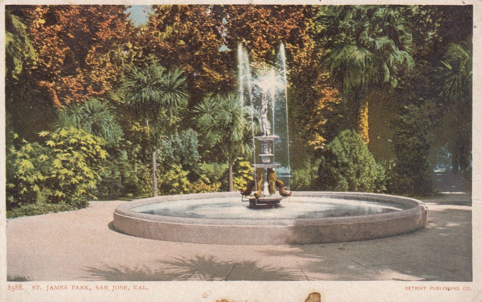 Old Undivided Postcard A300 8588 St. James Park San Jose Cal Detroit ...