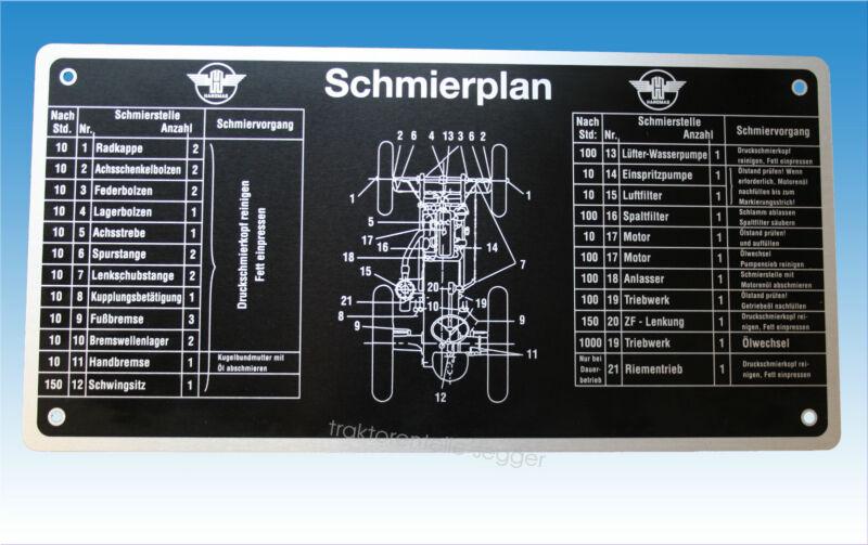 Schmierplan für Hanomag R 25 R 28 R 35 R 35/45 R 435 R 435/45 R 442 R 442/50 Foto 1