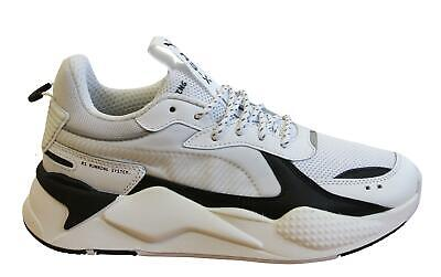 Puma RS-X Core Chunky White Textile Lace Up Mens Running Trainers 369666 01