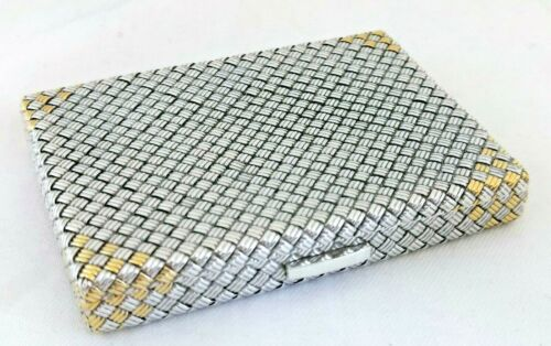 Antique French Silver And Gilt Geometric Mesh Weave Box