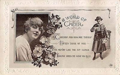 POSTCARD  POLITICS / SATIRE SUFFRAGETTE  Related  GLADYS  COOPER  Post  Lady