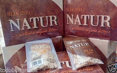 Usado,  Filtros Natur slim  bio organicos    4000 filtros finos  para tabaco de liar. segunda mano  Campanillas