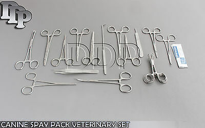 48 Pcs Canine Spay Pack Veterinary Surgical Instruments Ds-1053