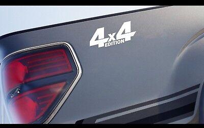 4x4 Edition Vinyl Decal Off Road Truck Jeep Racing Sticker Logo Emblem White