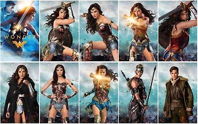 10 Wonder Woman Movie 2017 Promo Card PVC CHARACTOR Transparent Photo CARD E05