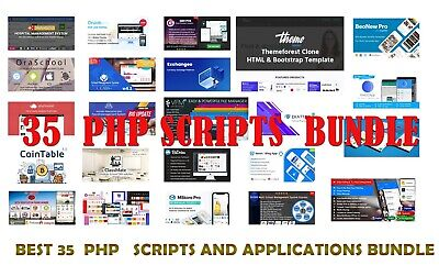 35 Php Scripts And Applications Web Design Bundle 2600 Value