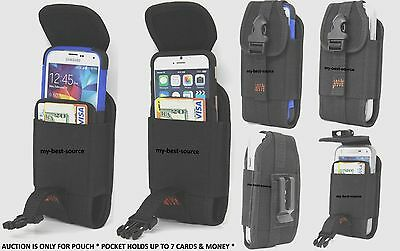 Fitted Wallet Type Holster Belt Clip Large Cell Phone Fits Battery Pack Case  Cell Phone Battery Belt Clip