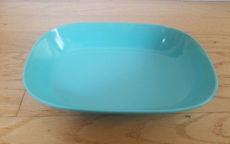 Vintage Texas Ware Turquoise Serving Dish