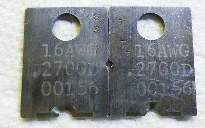 Set Of 16 Gauge Eubanks Strip Blade Die Type .116 X .2700 Collinear Tooling
