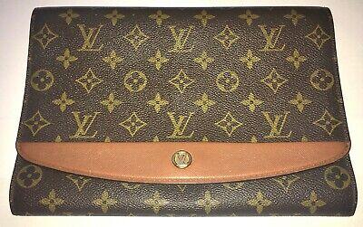 Louis Vuitton Vintage Clutch Bordeaux Logo Monogram