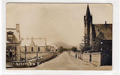 WESTERN ROAD, INSCH: Aberdeenshire postcard (C25058)