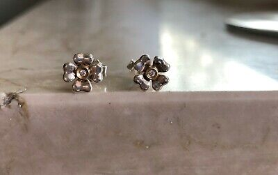 THOMAS SABO Ohrstecker H0001-179-14 Kleeblatt mit Diamant 925 Silber gebraucht kaufen  Korb