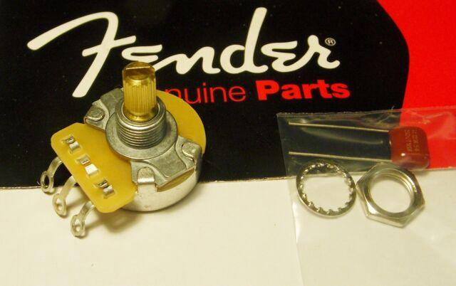 Fender 250k CTS Log Pot - Split Shaft OR Solid Shaft