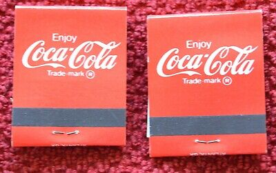 VTG LOT of 7MATCHBOOKS Coca Cola advertising 3 styles