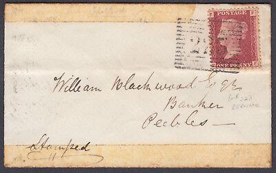 1866 Lerwick 223 Numeral + B/S (Shetland) to William Blackwood, Banker, Peebles