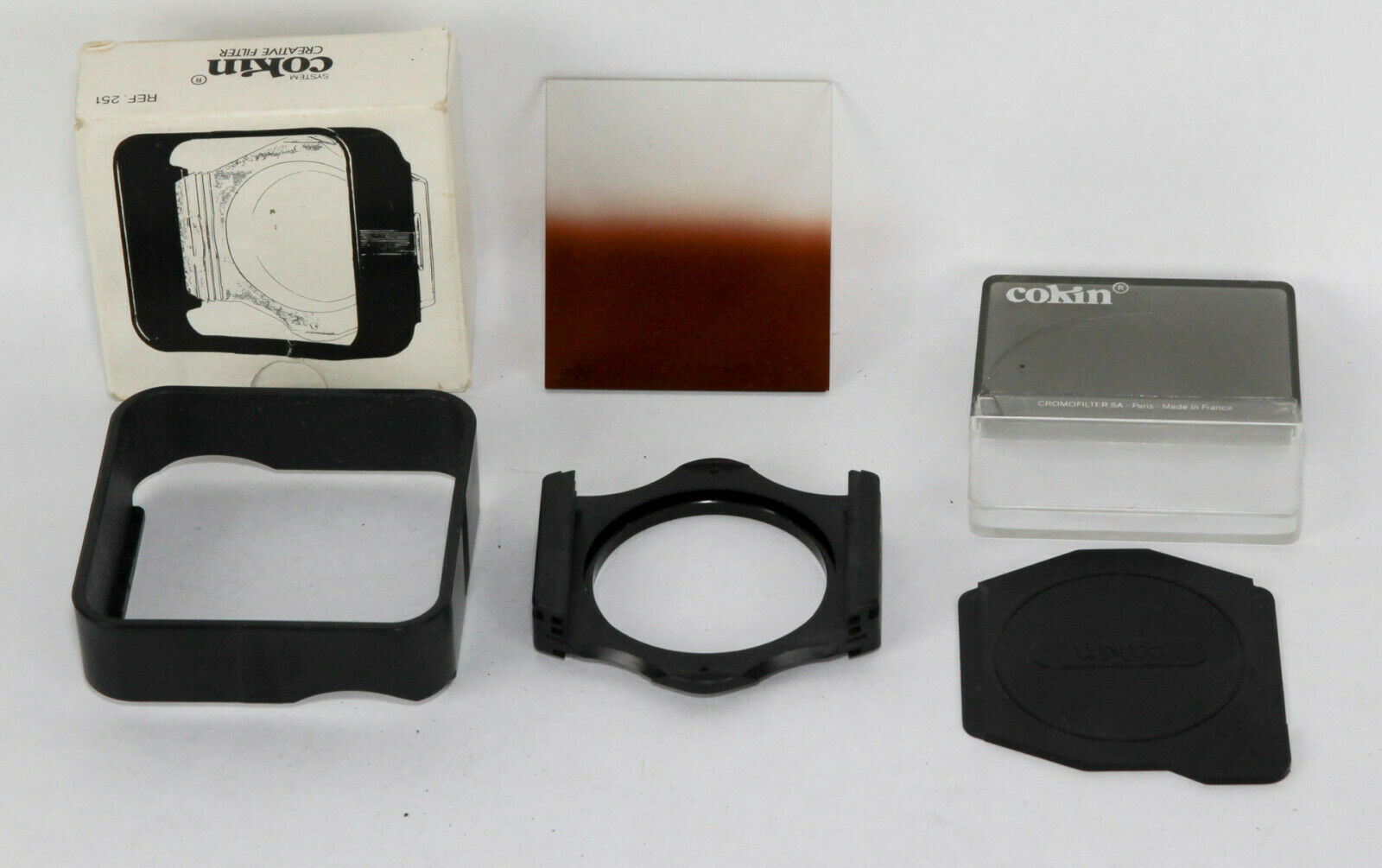 Cokin Filter Set With Gradual T2 Filer, Hood, 55mm Holder Made In France - $5.00