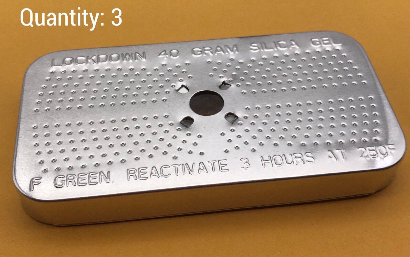 3 Rechargeable 40 Gram Desiccant Gun Safe Ammo Dehumidifier