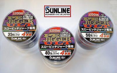 Sunline PE JIGGER ULT 4 Braided Jigging Fishing Line 1200m.Best Japan JIG (Best Saltwater Fishing Line)