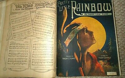 Antique Early 1900s Large Format BOUND Sheet Music Book THEATRE  Popular! ()