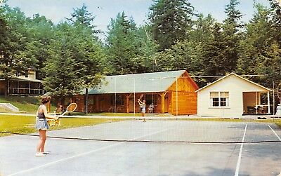 Old Forge New York Ladys Tennis Match Becker Hotel Such Weather Terrible  1956