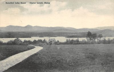 Center Lovell Maine Path Down To Lake Kezar Cottage Spending A Few Days 1942 Pc
