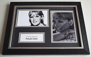 Petula Clark Signed Autograph A4 FRAMED photo display Singer Actress AFTAL COA