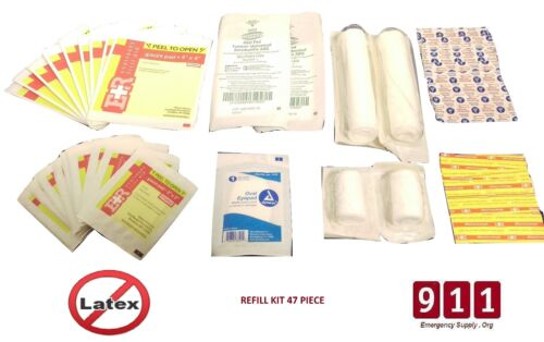 911 Emergency Trauma Bag Refill Kit Contents Fully Stocked Filled First 47 Piece
