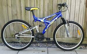 Huffy Ravine Mountain Bike Dual Suspension 18 Shimano Gears