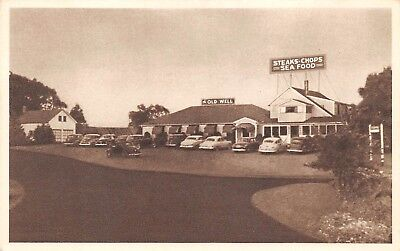 Simsbury  Conn  Pc C  1950  The Old Well Restaurant  Pub  Brown   Bigelow