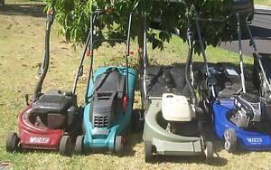 Four Lawn Mowers with Catchers - Victa Bosch Thornbury Darebin Area Preview