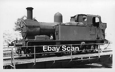 Railway Photograph GWR 14xx Class 0-4-2T Steam Loco No.1450 Unknown Location