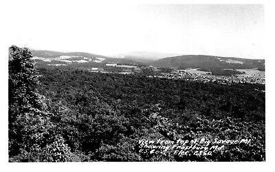 Vintage Postcard Big Savage Mt  Frostburg Md  Real Photo