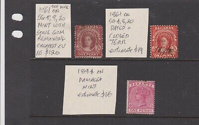 bahamas CV $150 OLD STAMPS SEE READ SCAN