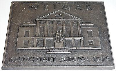 Weimar Kulturstadt Europas 1999 große Plakette Goethe-Schiller-Denkmal