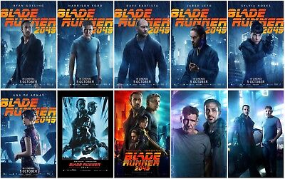 10 Blade Runner 2049 Movie 2017 Transparent Promo Card PVC CHARACTOR Poster A01