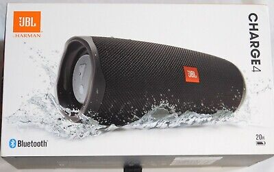 New JBL Charge 4 Portable Bluetooth Speaker - Black