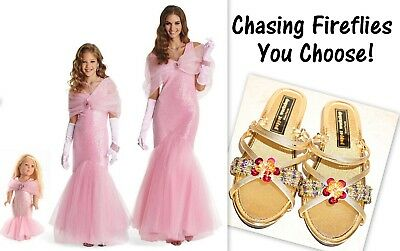 Chasing Fireflies Women Girl Doll Sandals Pink Movie Star Costume 4 6 8 10 12 14